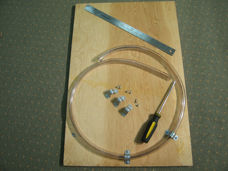 Materials required to build a water manometer to test the pressure on your CPAP machine.